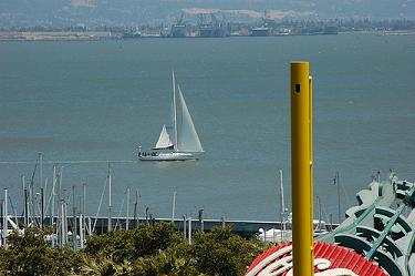 View of McCovey Cove from AT&T Park