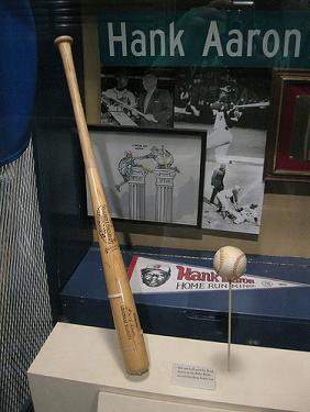 Hank Aaron Display at Turner Field